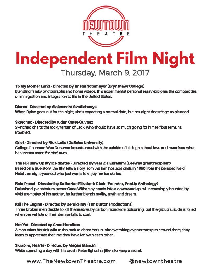 """""""To My Motherland"""" At The Newtown Theatre Independent Film Night Program"""