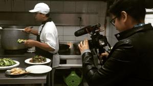 Filming chifa cuisine being prepared!