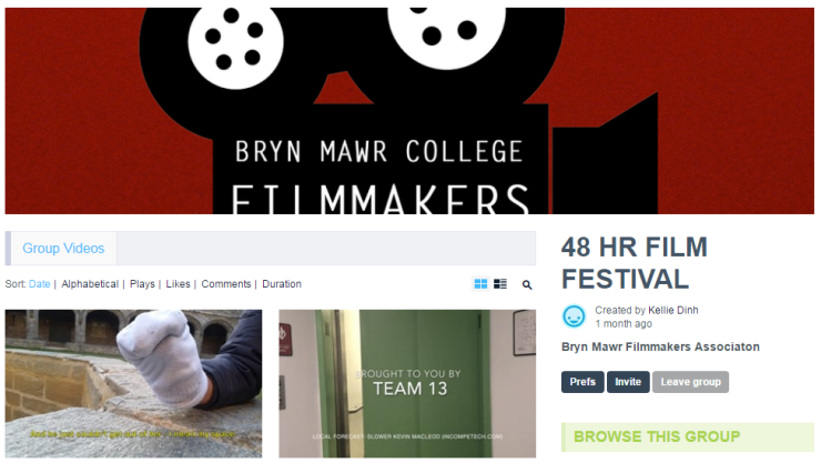 Bryn Mawr College Filmmakers Association 48 Hour Film Festival *Screening Ceremony*