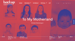 """To My Motherland"" Screening Internationally At The BACKUP_FESTIVAL In Weimar, Germany"