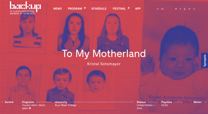 """""""To My Motherland"""" Screening Internationally At The BACKUP_FESTIVAL In Weimar, Germany"""