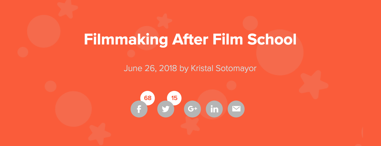 Submittable Article Filmmaking After Film School