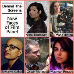 Behind The Screens - New Faces of Film Panel